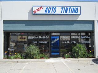 visions tint shop in Anaheim, Orange county